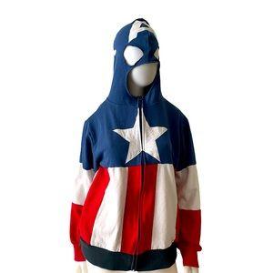 Captain America hoodie medium costume